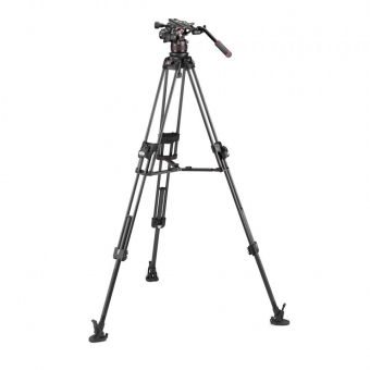 Manfrotto Nitrotech 612 Kopf + C645 Fast Twin Carbon